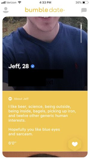 bumble example for good profiles