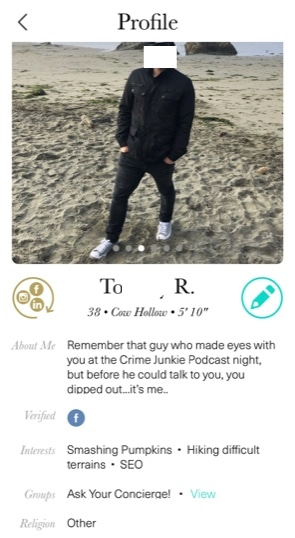 the league dating app profile