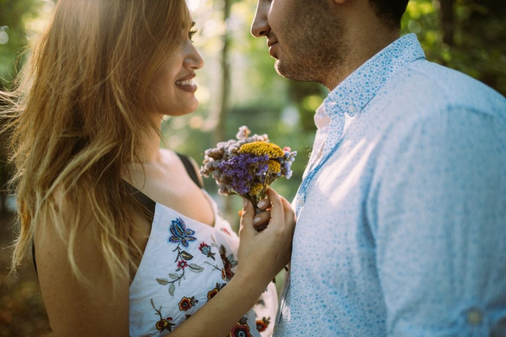 Couple flower in relationship